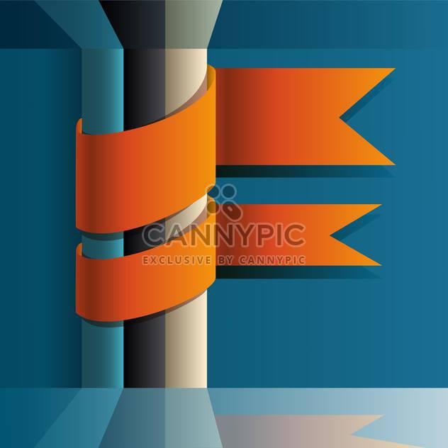 Vektor-Illustration der orange Bänder auf blauem Hintergrund mit Platz für text - Kostenloses vector #125777