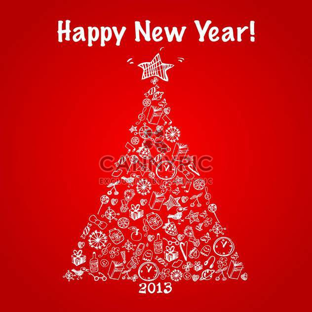 Vektor-Illustration abstrakter Weihnachtsbaum mit guten Rutsch - Free vector #125787
