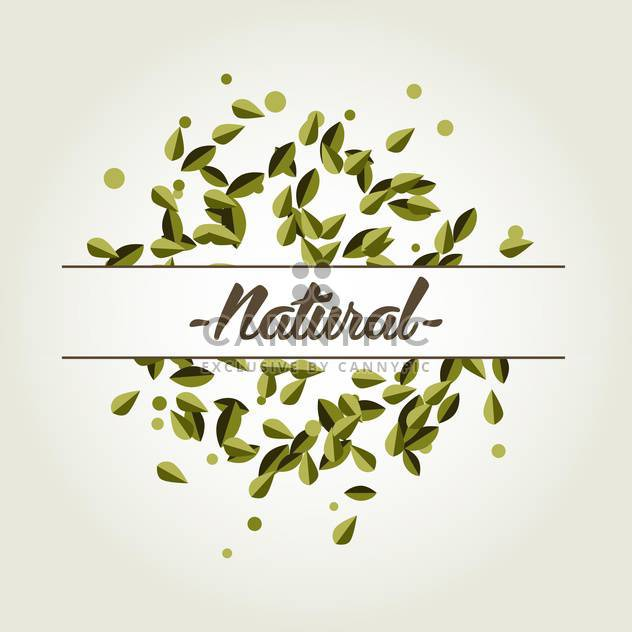 Vector natural background with green leaves on white background - Free vector #125807