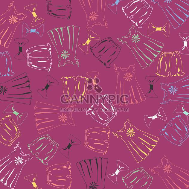 purple vector background with fashion clothing - Free vector #125887