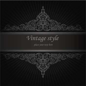 Vector vintage floral background with text place - Free vector #126047