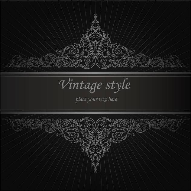 Vector vintage floral background with text place - vector gratuit(e) #126047
