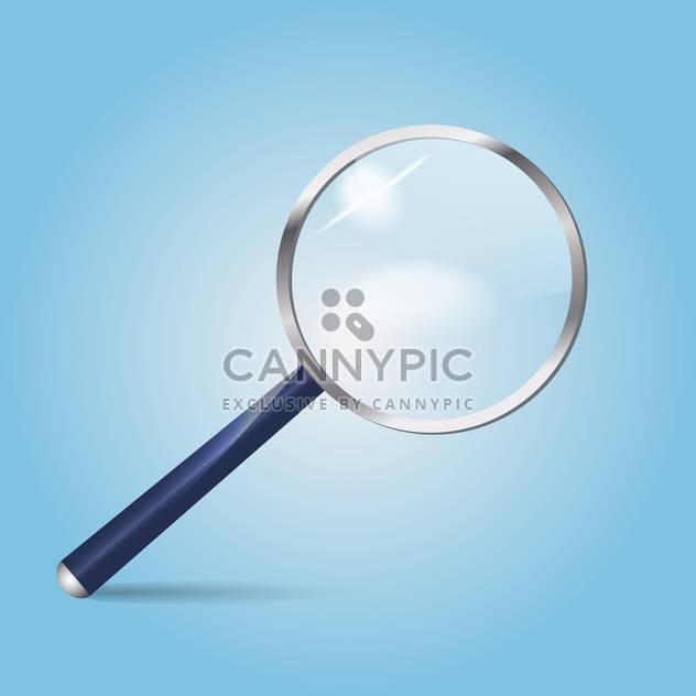 Vektor-Illustration der Lupe auf blauem Hintergrund - Free vector #126057