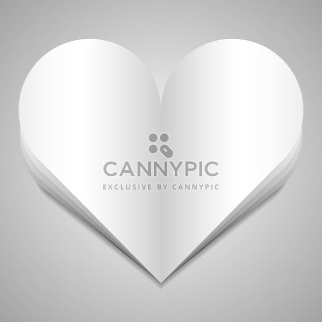 Vector illustration of big paper heart on white background - Free vector #126087