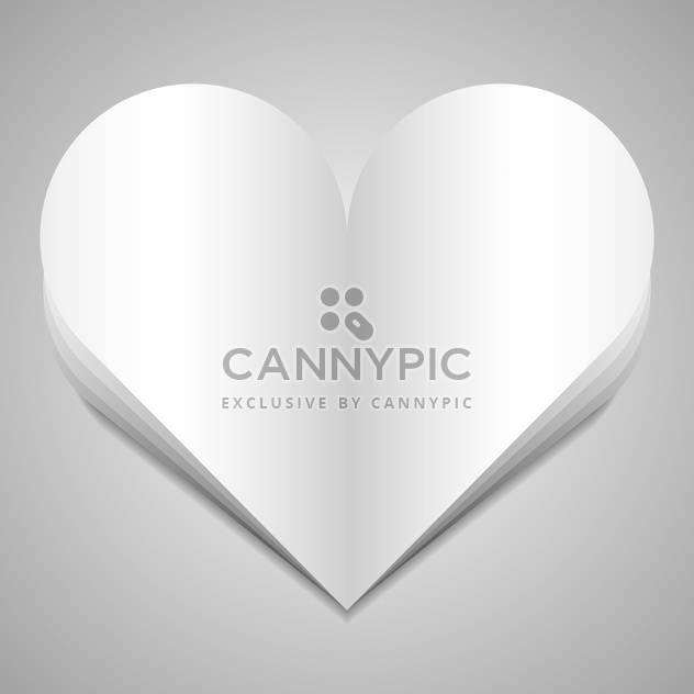 Vektor-Illustration der großen Papier-Herzen auf weißem Hintergrund - Kostenloses vector #126087