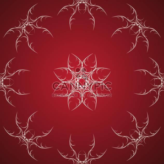 Vektor-roten Hintergrund mit weißen Blumen verziert - Kostenloses vector #126297