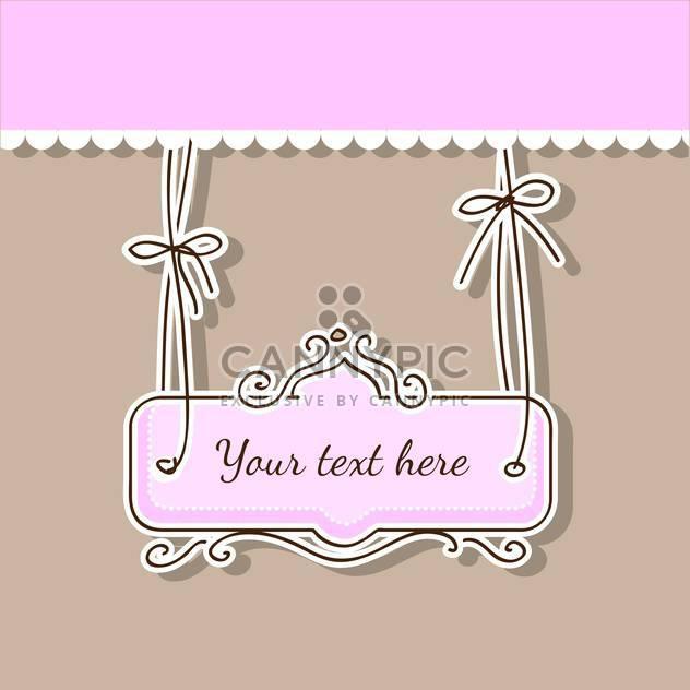 Vektor-Illustration von romantisch rosa und braun Hintergrund mit Bändern und text - Free vector #126327