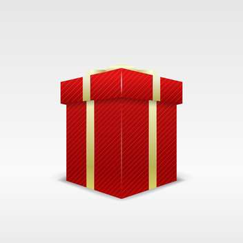 holiday background with red birthday gift box on white background - бесплатный vector #126377