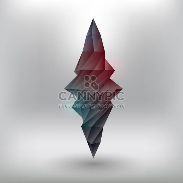 Vector illustration of geometric abstract element on grey background - Free vector #126407