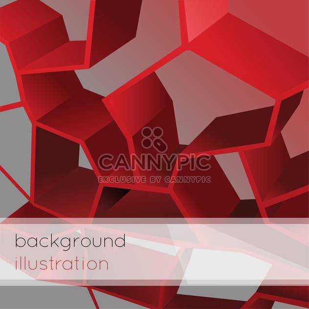 Vector illustration of abstract geometric red background - Free vector #126417