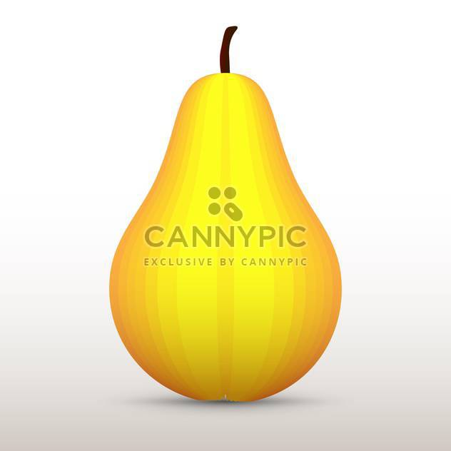 Vector illustration of yellow pear on white background - Free vector #126487