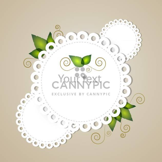 vector illustration of floral frame with text place - Free vector #126557
