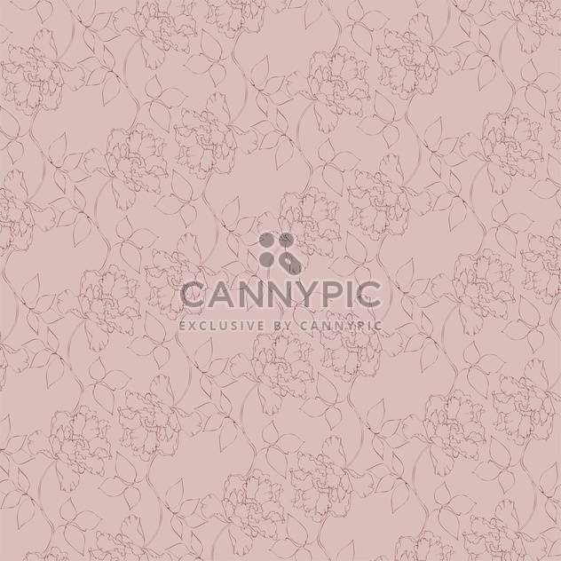 Vector vintage background with floral pattern - Free vector #126597
