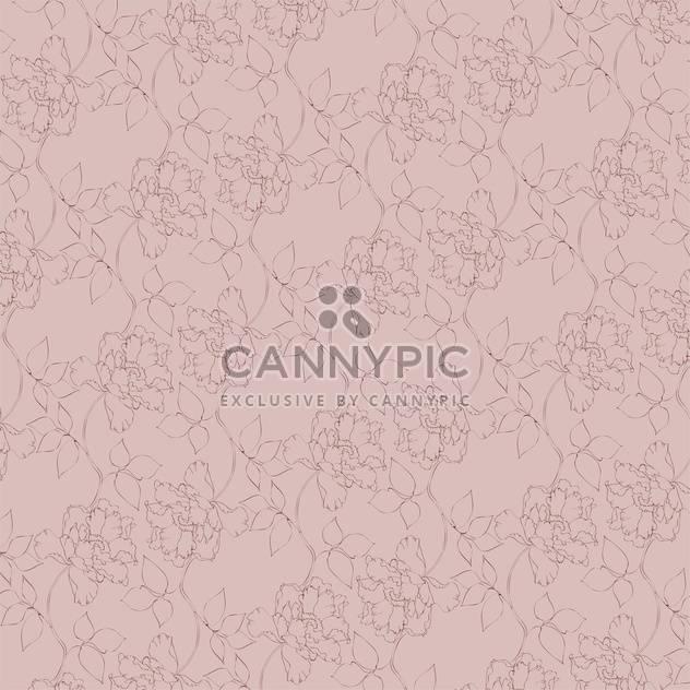 Vektor-Jahrgang-Hintergrund mit Blumenmuster - Kostenloses vector #126597