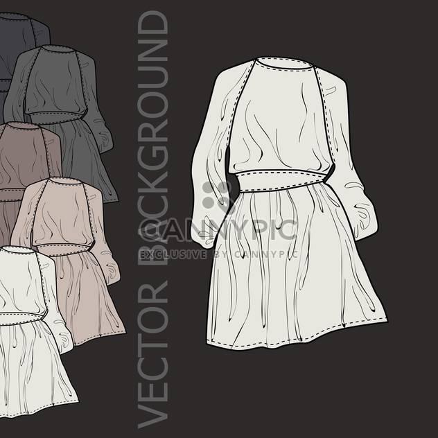 Vektor farbigen Hintergrund mit der weiblichen Mode Kleider - Kostenloses vector #126667
