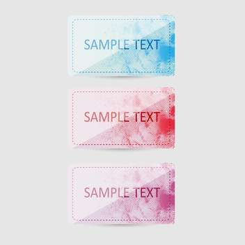 Vector set of colorful banners on white background with text place - Free vector #126677
