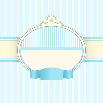 Vector vintage blue background with text frame - Kostenloses vector #126707