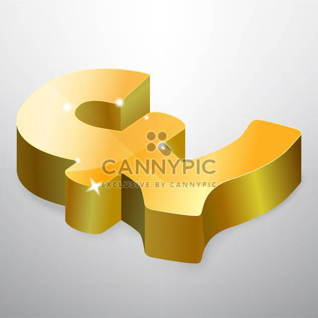 Golden pound symbol isolated on white background - Free vector #126717