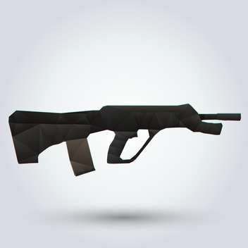 Vector illustration of Abstract rapid-firing rifle on white background - vector #126727 gratis