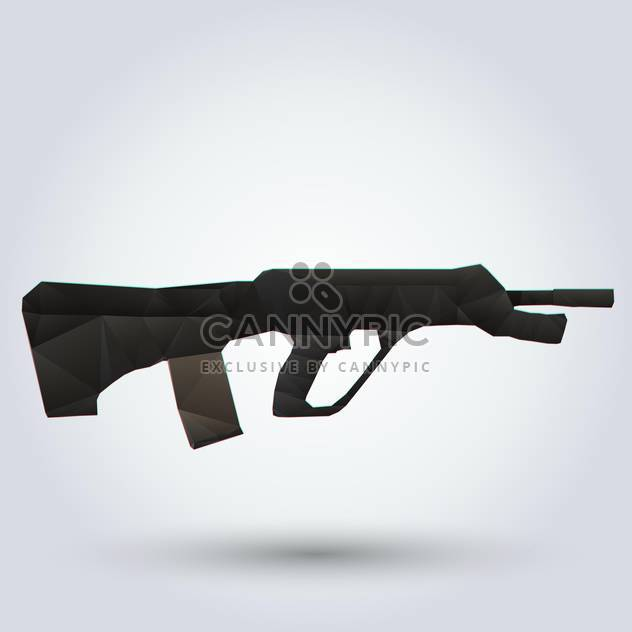 Vector illustration of Abstract rapid-firing rifle on white background - Free vector #126727