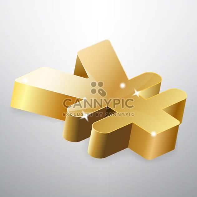 Goldene Yen zu unterzeichnen, auf weißem Hintergrund - Kostenloses vector #126817