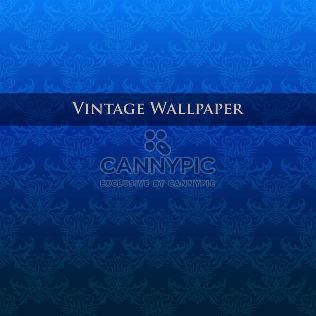 Vektor Vintage blau Tapete mit Blumenmuster - Kostenloses vector #126827