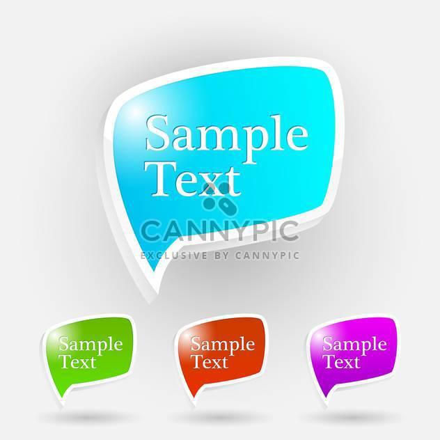 Vektor-Satz von glänzend Sprechblasen auf weißem Grund mit Text-Platz - Free vector #126967