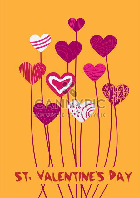 Vector background with hearts for Valentine's day - Free vector #126987