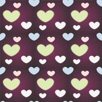 Vector background with hearts on purple background - Free vector #127027