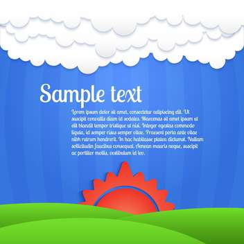 Vector colorful background with sunset on blue sky - vector #127107 gratis