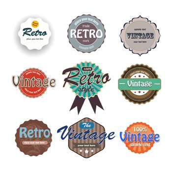 Vector set of colorful vintage labels on white background - vector gratuit #127127