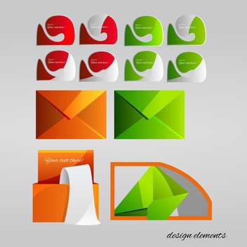 Vector set of design elements on grey background - Free vector #127247
