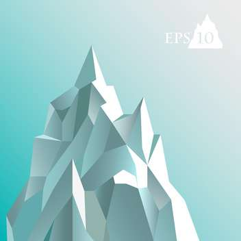 Vector illustration of abstract iceberg on blue background - vector #127257 gratis
