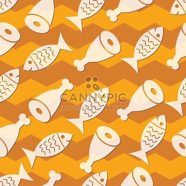 Vektor-Illustration der nahtlose Hintergrund für Fisch und Fleisch - Free vector #127297
