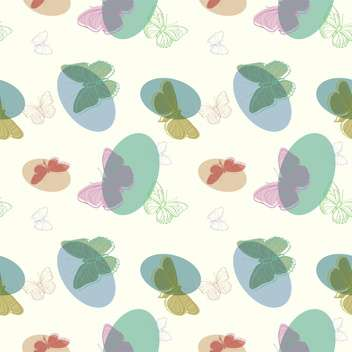 Vector illustration of seamless butterflies background - Free vector #127307