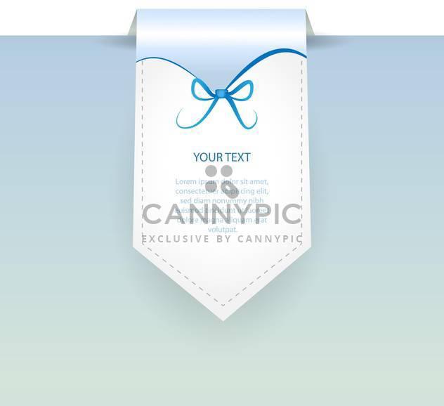 Vektor blaue Banner mit dem Text und Bogen Platz - Kostenloses vector #127317