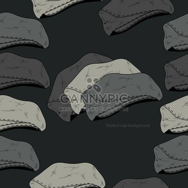 Vector background with vintage male hats - Free vector #127357