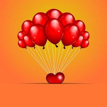 holiday background with red balloons for greeting card - vector gratuit #127377
