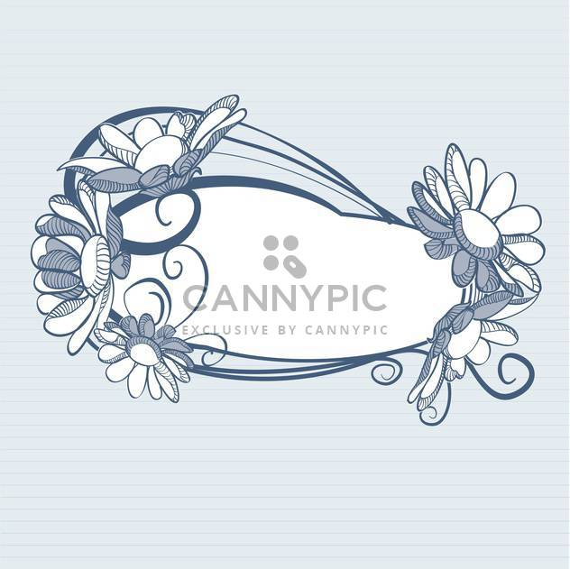 Blue background with daisy flowers with text place - Free vector #127407