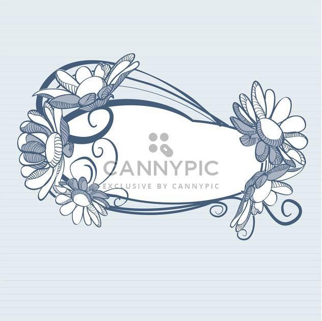 Blauer Hintergrund mit Gänseblümchen-Blumen mit Text-Platz - Free vector #127407
