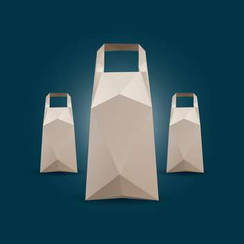 Three Vector shopping bags on dark background - vector gratuit #127427