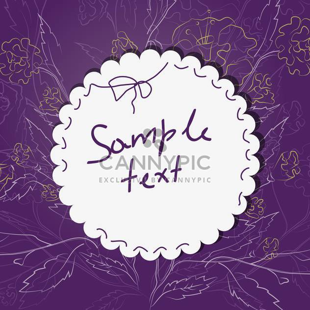 Vector background for design with spring flowers and text place - Free vector #127477