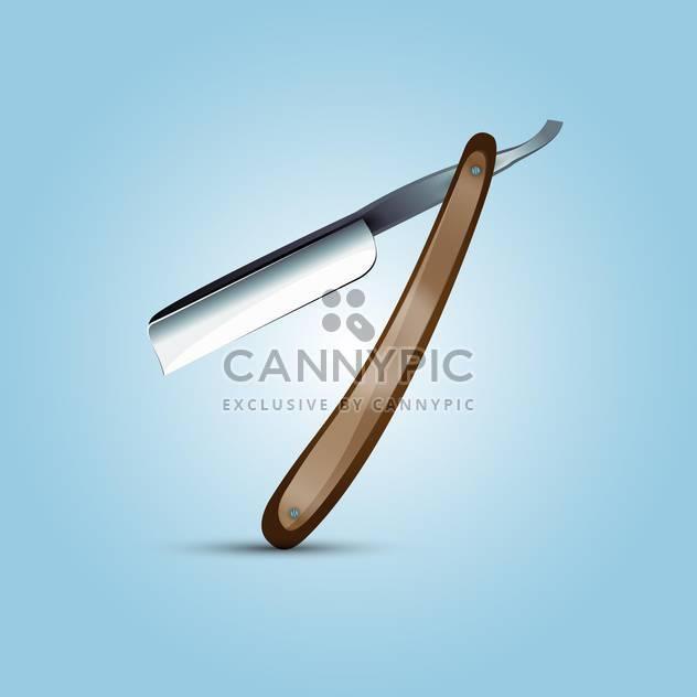 Vektor-Illustration von Friseur Messer auf blauem Hintergrund - Kostenloses vector #127497