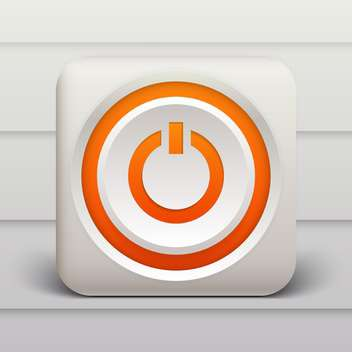 Vector orange power button on white background - бесплатный vector #127527