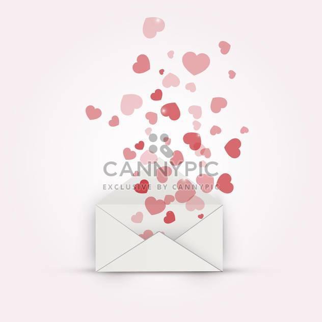 Vektor-Illustration des Umschlags mit Herzen auf rosa Hintergrund - Free vector #127537