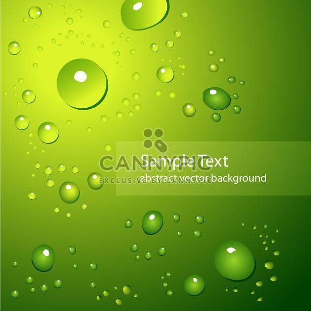 abstract background with water drops on green background - Free vector #127557