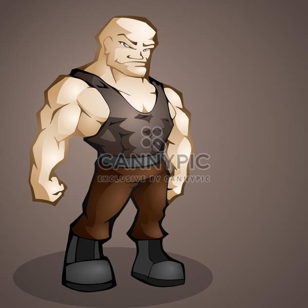 muscular handsome man on dark background - Free vector #127577