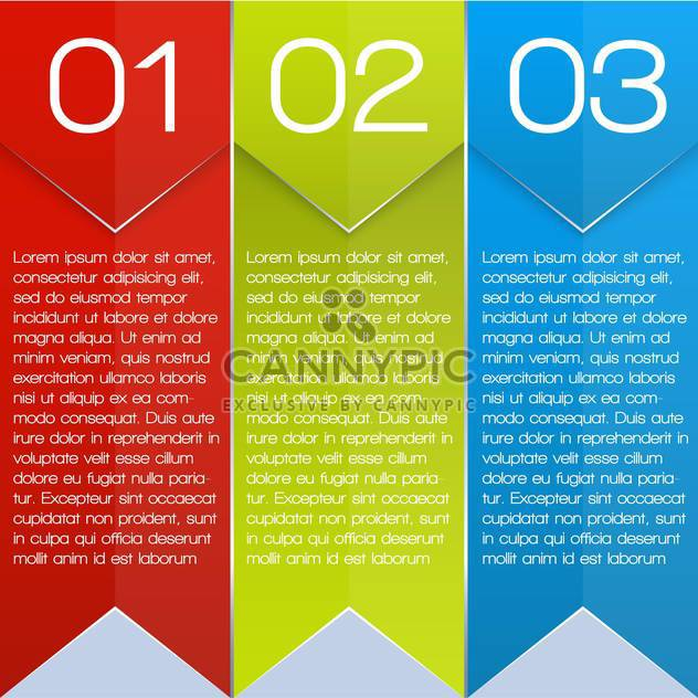 colorful three options banners - Free vector #127637