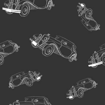 Seamless dark grey background with vintage cars - Free vector #127667