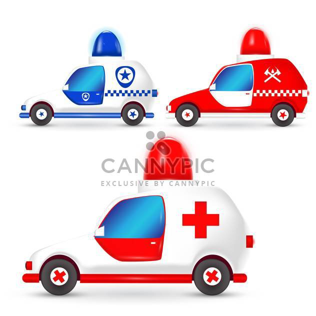 Vector set of occupation cars on white background - Free vector #127707